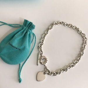 Vintage Tiffany & Co. Heart Tag Toggle Choker